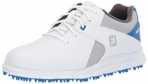 Footjoy Pro SL, Chaussure de Golf, Blanco-Azul, 35 EU