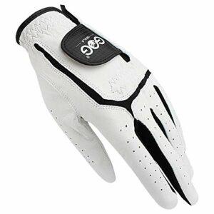 Gant De Golf Gants de Golf en Cuir véritable for Les Hommes Gauche Respirants Main Blanche for Golfeur (Color : Wear on Left Hand, Size : XL size26)