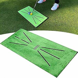Golf impact training mat, 30x60cm Golf Swing Detection Batting Mat, Mini Golf Mat Practice Training, Golf Putting Practice Aids Equipment, Analysis & Correct Your Swing Path (1PC)