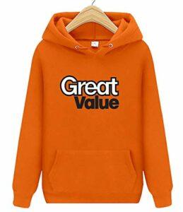 Great ValueHommes UPF50 à manches longues pour la natation, la pêche, le golf, la randonnée – Orange – XL