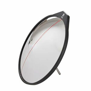 HUWENJUN123 Miroir Convexe de Golf de 11 Pouces de diamètre pour entraîneur d'oscillation Angle de Pratique de Golf réglable Miroir Acrylique résistant aux Chocs Support en Acier Inoxydable