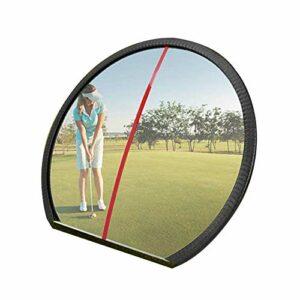 HUWENJUN123 Miroir de Golf, Miroir de Golf Grand Angle réglable, balançoire complète et Outil d'aide à la Formation de Golf pour entraîneur et démarreur