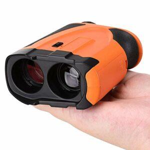 JW Télémètre de Golf Télémètre Laser 1100 Verges (1000 m) avec télémètres Laser de précision nx7 Pro Jumelles Laser – avec Batterie, télémétrie, Mesure d'angle, Mesure Continue,Orange