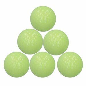 Keenso 6 pièces/Ensemble Balle de Golf Lumineuse, balles de Golf veilleuses de Pratique de Golf, Balle de Golf Lumineuse Clignotante,Sports de Nuit Brillants de Longue durée