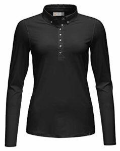 KJUS Polo Scotscraig pour femme L/S – Noir – 44