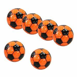 lahomia Set 6 Balles D'entraînement de Balle de Golf pour Les Voyages de Bureau pour Enfants Adultes – Orange, 42.67mm