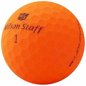 lbc-sports Wilson Staff Dx2 / Duo Soft Optix Balles de Golf – Lot de 24 – AAAAA – Selection Premium – Orange – Finition Mat – Lakeballs – Balles de Golf usées