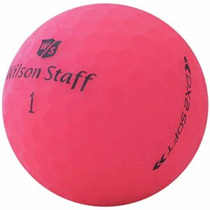 lbc-sports Wilson Staff Dx2 / Duo Soft Optix Balles de Golf – Lot de 24 – AAAAA – Selection Premium – Rose – Finition Mat – Lakeballs – Balles de Golf usées