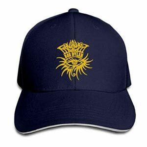 Logo Oeil Bob-Dylan Chapeau de Sandwich de Couleur Pure Casquette à pic de Printemps Casquette de Papa réglable Snapback d'été