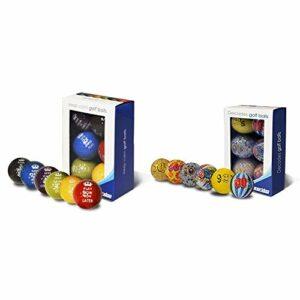 Longridge Lot de 6 balles de Golf Keep Calm Multicolore & Decades Lot de 6 balles de Golf Mixed