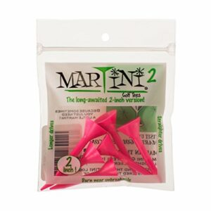 Martini 2 inch Golf Tees – Pink (6 Tees)