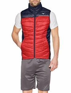 Mizuno pour Homme Move Tech Gilet XXL Deep Navy/Tango Red