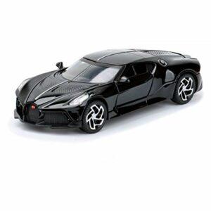 Modèle de voiture de collection 1/32 DieCasts électrique clignotante en alliage pour Bugatti Little Dragon noir jouet voiture de sport (couleur : 1)