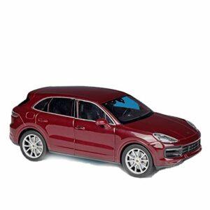 Modèle de voiture de marque 1:24 pour Porsche Cayenne Turbo en métal de luxe moulé sous pression Modèle de voitures modèle de voiture de collection jouet cadeau de Noël (couleur : rouge)