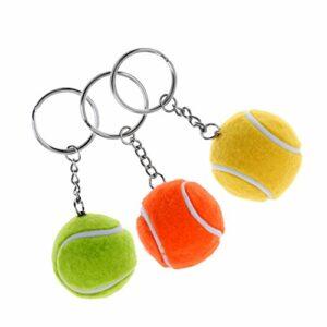 #N/A 3 Balles de Golf Porte-clés en Résine Synthétique Anti-Stress Balle