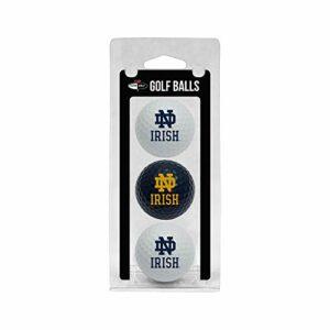 NCAA Lot de 3Balle de Golf, Femme Enfant Homme Mixte, 22705, Notre Dame Fighting Irish, Taille Unique