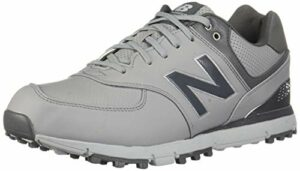 New Balance Men's 574 SL Golf Shoe, Grey/Silver, 14 2E US