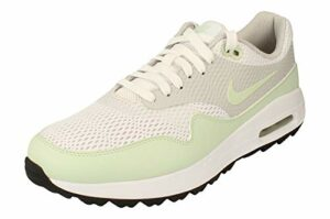 Nike Air Max 1 G Hommes Golf Chaussures CI7576 Sneakers Chaussures (UK 10 US 11 EU 45, White Jade Neutral Grey 111)