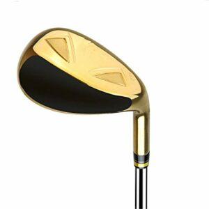 Nvshiyk Poignée Golf Wedge Grip Croîchements de Golf coordonnés pour Hommes Unisexle Droit Utility Fer Club de Golf (Couleur : Gold, Size : One Size)
