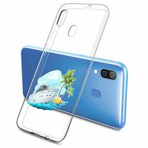 Oihxse Clair Case pour Samsung Galaxy S10E/S10 Lite Coque Ultra Mince Transparent Souple TPU Gel Silicone Protecteur Housse Mignon Motif Dessin Anti-Choc Étui Bumper Cover (A6)