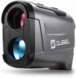 OUBEL Télémètre de Golf/Télémètre de Chasse, Télémètre Laser de 1200 Mètres avec Fonction de Calcul de la Pente, Verrouillage du mât de Drapeau, Vibration, Fonction de Mesure Continue (Gris)
