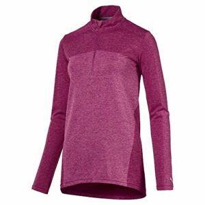 PUMA 574645 Evoknit T-Shirt sans Couture avec Fermeture Éclair 1/4 Magenta Taille S XL Magenta Haze