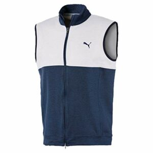 PUMA Cloudspun Warm Up Vest Pull Homme, Peacoat-Bright White, FR (Taille Fabricant : XL)