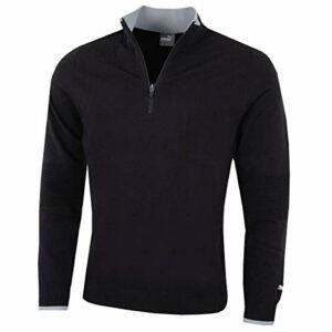 Puma Golf Hommes Evoknit 1/4 Zip Sweater – Noir – S