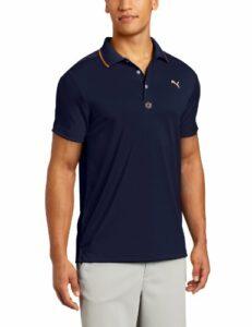 PUMA Golf NA Polo Jacquard pour Homme Petit Bleu crépuscule