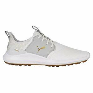 Puma Men's Ignite Nxt Crafted Golf Shoe, Puma White-High Rise-Puma Team Gold, 7.5