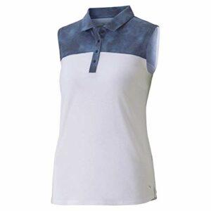 PUMA Polo sans Manches pour Femme Golf 2020 Tie Dye Blocked, Femme, Polo, 597689, Caban, M