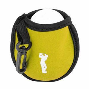 Qiraoxy Mini Porte- Balle de Golf Utilitaire Poche de Balle de Golf Petite Taille Clip Poche Sac de Rangement Outil D'aide Au Golfeur