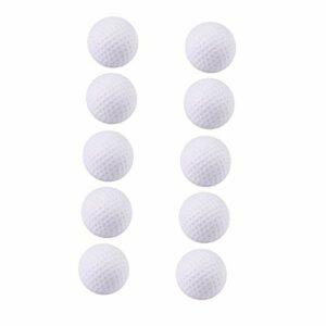 Raybre Art Balles de Golf en Mousse 10 pcs Blanc Formation de Golf Balles de Mousse Souples Balles de Pratique en intérieur