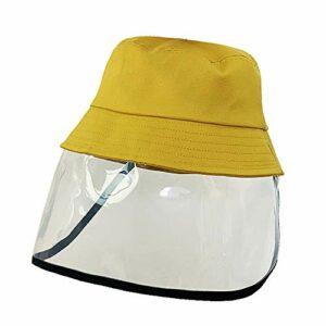 RISF Bonnet de protection intégral pour enfants anti-gouttes, anti-alive, coupe-vent, anti-poussière, pare-soleil, pare-brise, protection contre le vent, 749277T214PMXBHE4HUF, jaune