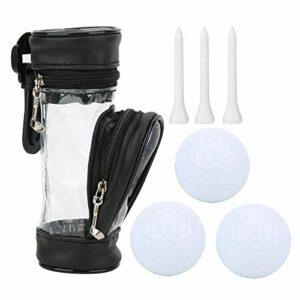 Sac de Balle de Golf, Sac à Outils en Cuir pour Accessoire de Tee-Shirt de Balle de Transport Multifonctionnel