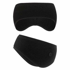 SAVITA 1 Pièces Headband Sport Bandeau Hiver Cache Oreille Anti Transpiration pour Running, Homme, Femme (Noir)