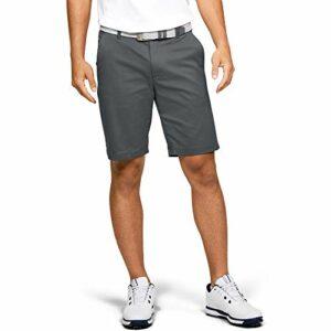 Short de Sport Confortable et Extensible avec 4 Poches pour Le Golf et Les Loisirs, Homme, Short, 1309547, Gris (012) / Blanc, 32