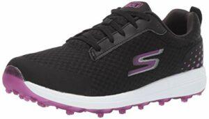 Skechers GO GOLF Max Chaussure de golf pour femme, multicolore (noir/violet), 39 EU
