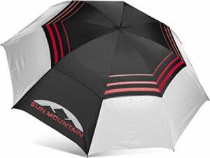 Sun Mountain Golf- 172,7cm manuel UV Parapluie, noir/blanc/rouge