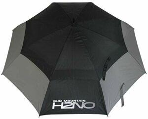 Sun Mountain H2NO Parapluie à Double auvent Gris/Noir 62 cm