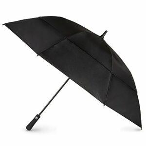totes Parapluie ventilé à ouverture automatique pour bâton de golf, Noir (Noir) – 9102