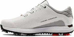 Under Armour Men's HOVR Matchplay Golf Shoe, White (100)/Black, 9