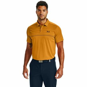 Under Armour Men's Vanish 1Up Golf Polo , Golden Yellow (711)/Academy Blue , Large
