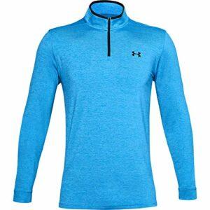 Under Armour Playoff 2.0 1/4 Zip, Polo de Sport pour Homme, Homme, Sweat-Shirts à Capuche, 1327040, Bleu électrique (428)/Noir, XXL