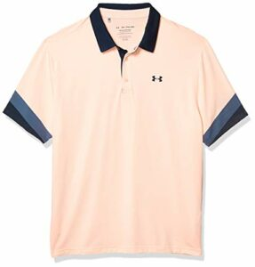 Under Armour Polo de Golf Playoff 2.0 pour Homme. Large Peach Frost (846)/Academy Blue