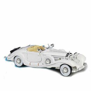Voiture de marque modèle 1:18 pour Mercedes-Benz 500 K Blcak Classic Car Model Collection Décoration Cadeaux Jouet (couleur : 5)