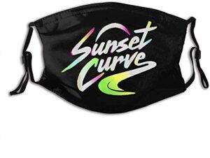VOROY M-a-sk-s Cache-cou réutilisable avec poche pour filtre Julie et les Phantoms Sunset Curve avec deux filtres remplaçables Fabriqué aux États-Unis