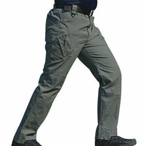 Wellouis Pantalon Long imperméable à l'eau pour Homme, avec Poches, Pantalons Amples (Green, L)
