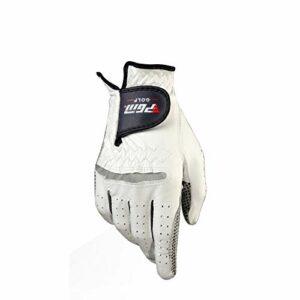 WENYOG Gant De Golf Gants de Golf en Cuir véritable for Homme Gauche Droite Main Douce Respirant Pur avec Granules Anti-dérapant Mitten (Color : Right Hand, Size : 24)