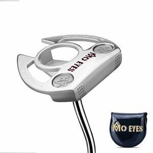 WZP-Putter de Golf, hosel incliné, Putter à Centre de gravité Bas avec Ligne de visée, Outil de Pratique d'entraînement pour débutant Golf Putter Club,C